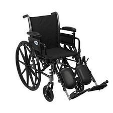 Cruiser 3 Wheelchair w/Adjustable Desk Arms & Elevated Leg Rest
