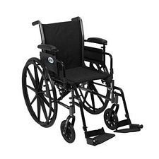 Cruiser 3 Wheelchair w/Adjust. Desk Arm & Swing Foot Rest