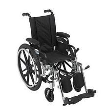 Viper 12 in. Wheelchair w/Flip Back, Desk Arm & Elev. Leg