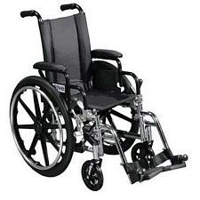 Viper 12 in. Wheelchair w/Flip Back, Desk Arm & Swing Foot