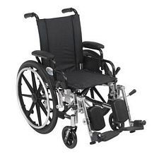 Viper 14 in. Wheelchair w/Flip Back, Desk Arm & Elev. Leg
