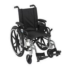 Viper 14 in. Wheelchair w/Flip Back, Desk Arm & Swing Foot