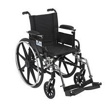 Viper 16 in. Wheelchair w/Flip Back, Desk Arm & Swing Foot