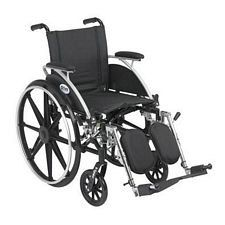 Viper 16 in. Wheelchair w/Flip Back, Desk Arm & Elev. Leg