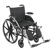 Viper 18 in. Wheelchair w/Flip Back, Desk Arm & Elev. Leg