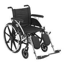 Viper 18 in. Wheelchair w/Flip Back, Full Arm & Elev. Leg