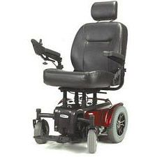 Red Medalist Heavy Duty Power Wheelchair (24 in.)