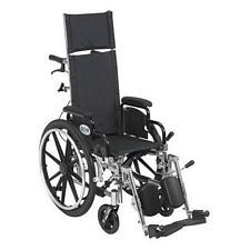 Viper+ 12 in. Recline Wheelchair w/Elev. Leg & Flip Back Desk Arms