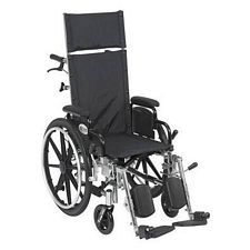 Viper+ 14 in. Recline Wheelchair w/Elev. Leg & Flip Back Desk Arms
