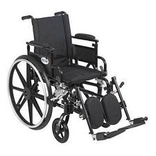 Viper+GT 16 in. Wheelchair w/Flip Back, Desk Arm & Elev. Leg