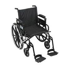 Viper+GT 16 in. Wheelchair w/Flip Back, Desk Arm & Swing Foot