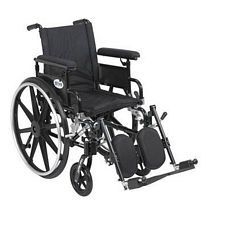 Viper+GT 16 in. Wheelchair w/Flip Back, Full Arm & Elev. Leg