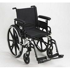 Viper+GT 16 in. Wheelchair w/Flip Back, Full Arm & Swing Foot