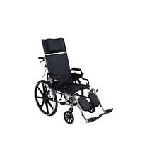 Viper+GT 16 in. Recline Wheelchair w/Desk Arms,Blk