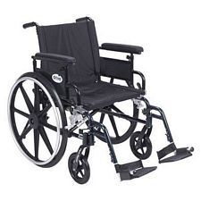 Viper+GT 20 in. Wheelchair w/Flip Back, Full Arm & Swing Foot