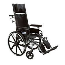 Viper +GT 20 in. Recline Wheelchair w/Detach. Arms, Blk