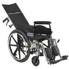 Viper +GT 20 in. Recline Wheelchair w/Full Arms,Blk