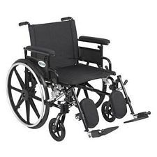 Viper+GT 22 in. Wheelchair w/Flip Back, Full Arm & Elev. Leg
