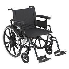 Viper+GT 22 in. Wheelchair w/Flip Back, Full Arm & Swing Foot