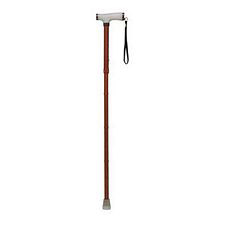 Folding Cane w/ Wood Pattern and Gel Handle