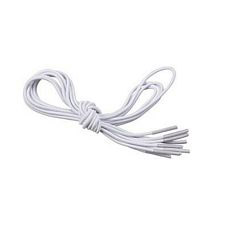 White Elastic Shoe and Sneaker Laces, White