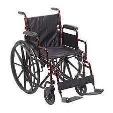 Rebel Lightweight Wheelchair, Red
