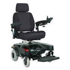 Sunfire Plus EC Rear Drive Power Red Wheelchair (18 in.)