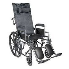 Silver Sport Recline Wheelchair w/Desk Arm & Elevated Leg, (20 in.)