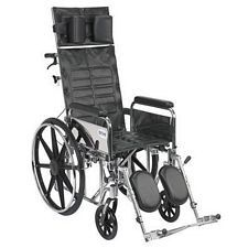 Sentra Recline Wheelchair w/Detach. Full Arms (16 in.)