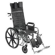 Sentra Recline Wheelchair w/Detach. Desk Arms (18 in.)