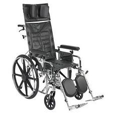 Sentra Recline Wheelchair w/Detach. Full Arms (18 in.)