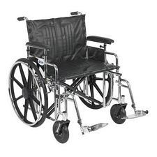 Sentra Wheelchair w/Adjust. Full Arm & Swing Foot (20 in.)