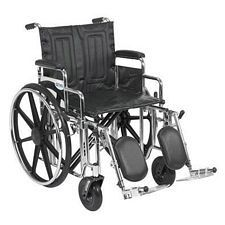Sentra Wheelchair w/Desk Arms & Elev. Leg Rest (20 in.)
