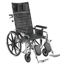 Sentra Recline Wheelchair w/Detach. Full Arms (20 in.)