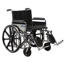 Sentra Wheelchair w/Full Arms & Elev. Leg Rest (22 in., Chrome)
