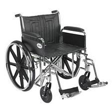 Sentra EC Wheelchair w/Full Arms & Swing Foot Rest (22 in.)