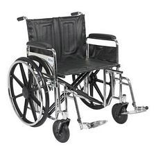 Sentra Wheelchair w/Full Arms & Swing Foot Rest (24 in.)