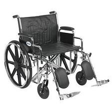 Sentra EC Wheelchair w/Desk Arms & Elev. Leg Rest (24 in.)
