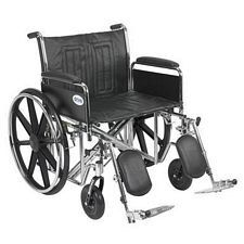 Sentra EC Wheelchair w/Full Arms & Elev. Leg Rest (24 in.)