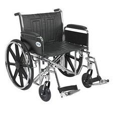 Sentra EC Wheelchair w/Full Arms & Swing Foot Rest (24 in.)