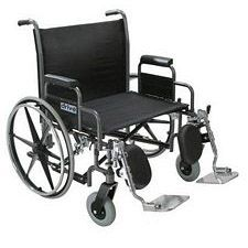 Sentra Heavy Wheelchair w/Detach. Desk Arms (26 in., Chrome)
