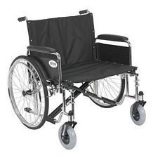Sentra EC X-Wide Wheelchair w/Detach. Full Arms (26 in.)