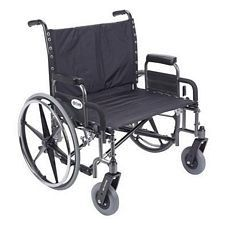 Sentra Heavy Wheelchair w/Detach. Desk Arms (28 in., Chrome)