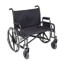 Sentra Heavy Wheelchair w/Detach. Desk Arms (30 in., Chrome)