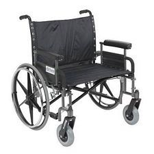 Sentra Heavy Wheelchair w/Detach. Full Arms (30 in., Chrome)