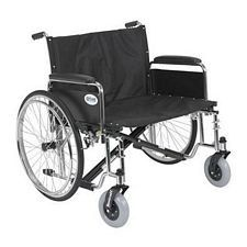 Sentra EC X-Wide Wheelchair w/Detach. Full Arms  (30 in.)