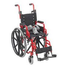 Wallaby Pediatric Red 12 in. Folding Wheelchair