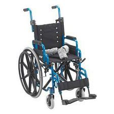 Wallaby Pediatric Blue 14 in. Folding Wheelchair