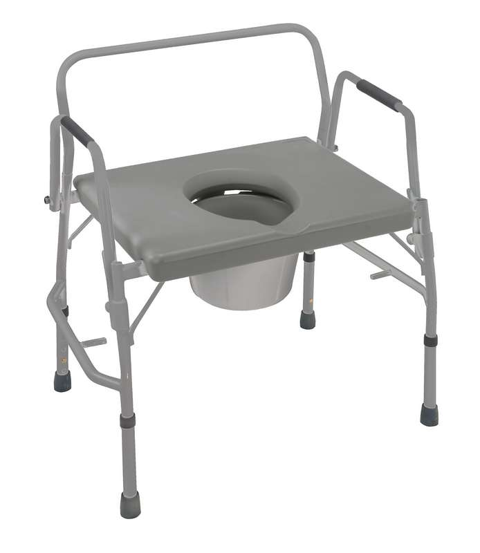 Heavy Duty Drop-Arm Welded Commode - Commodes and Toilet Accessories ...