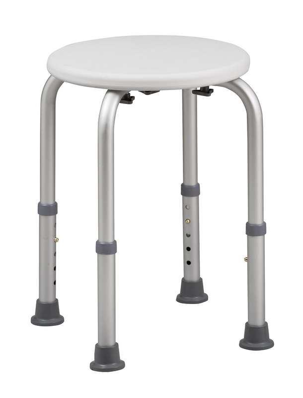 Round Shower and Tub Stool w/ Bactix - Bath Benches and Stools: Home ...